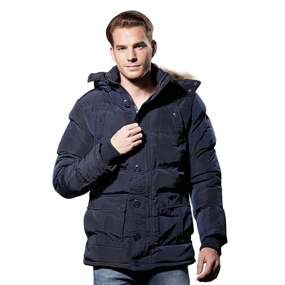 Chaqueta de algodón de invierno de los hombres de los hombres de los hombres con las chaquetas y chaquetas y chaquetas