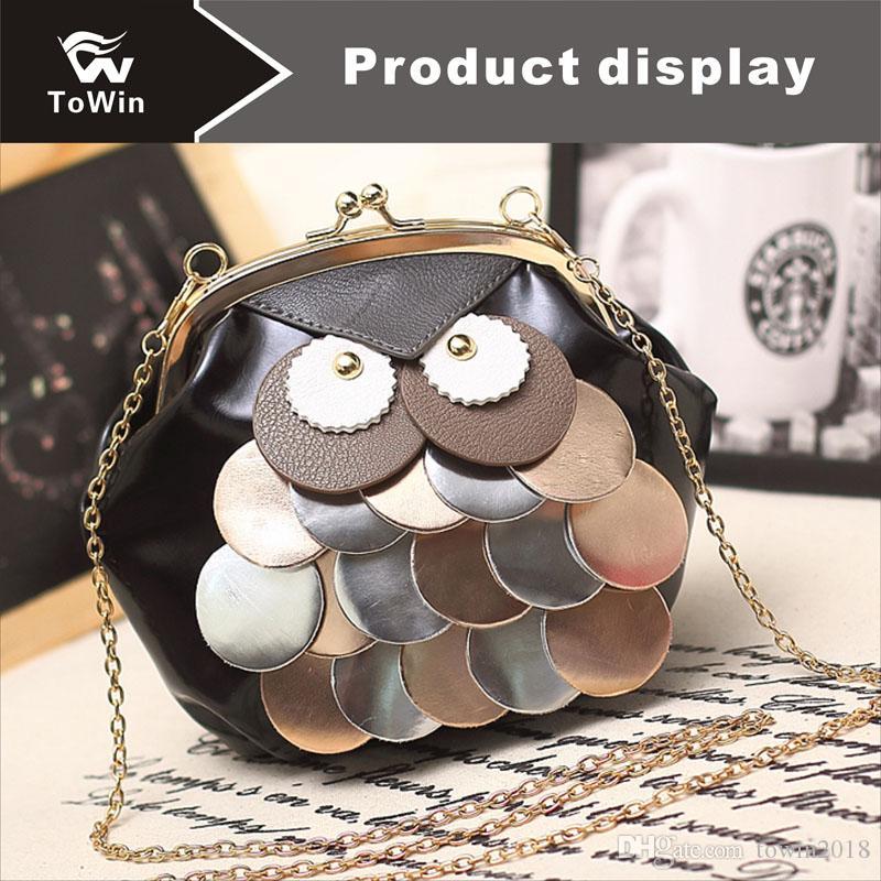 Brand Crossbody Bag High Quality PU Leather Shoulder Bag Retro Fashion Shell Bags Portable Cellphone Pouch Cute Pattern Handbag Wallet Tote