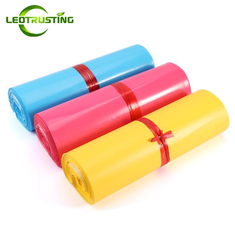 Leotrusting 4 cores Poly Mailer Mailing Bag Cor Expresso de embalagem Envelope Bag X-Mas Vestuário de plástico Caixas de presente envio