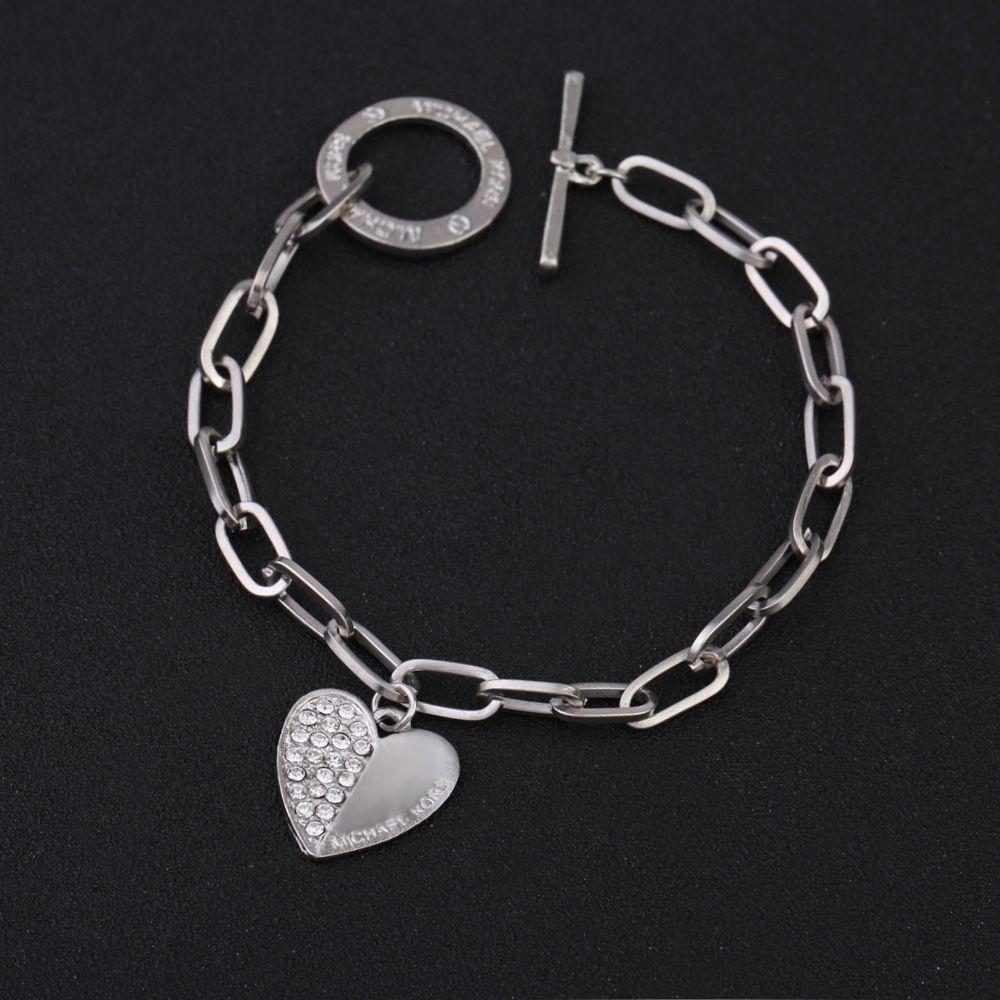 Partido de la joyería pulsera ajustable al por mayor para las mujeres del encanto del corazón de oro chapado Blacelets brazaletes Amigo Regalo