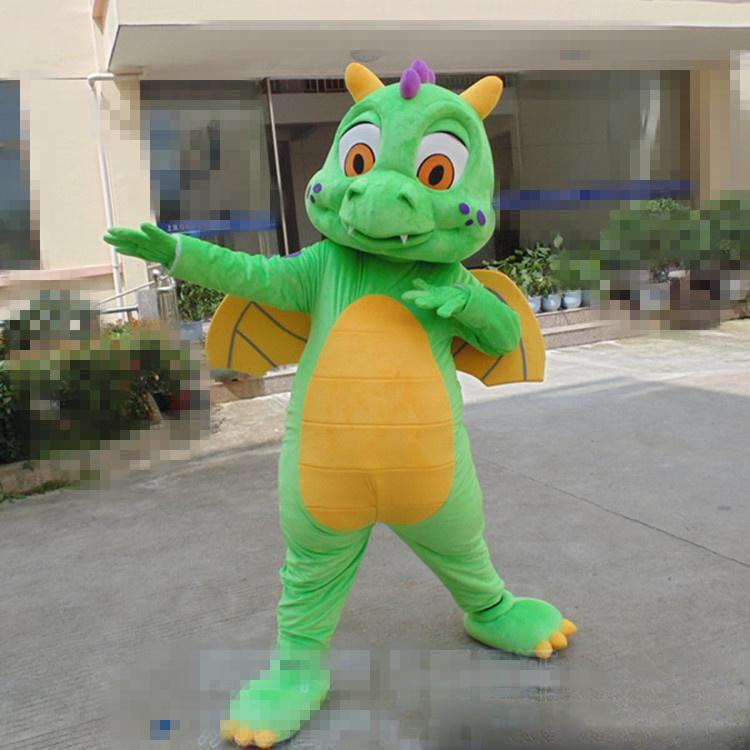 2018 venda direta da fábrica e Dos Desenhos Animados Dianossauro Verde Mascot Costume Dia Das Bruxas de Natal Dianossauro Carnaval Vestido