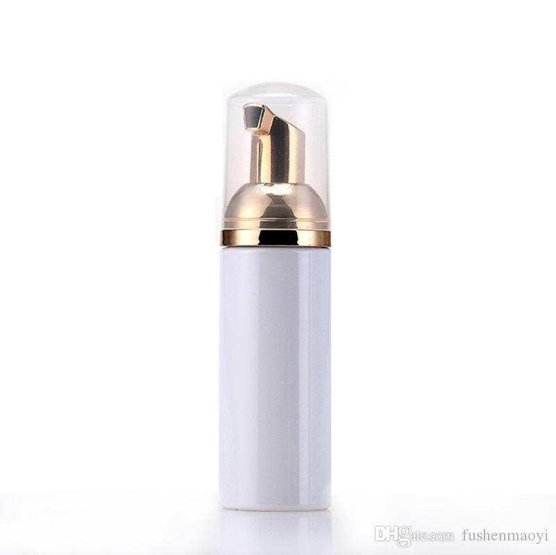 50ml 여행 거품 병 골드 펌프와 빈 플라스틱 거품 병 핸드 워시 비누 무스 크림 디스펜서 버블 병 BPA 무료