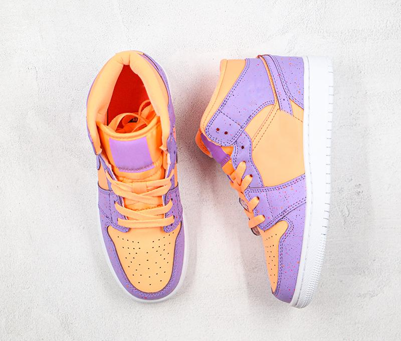 1 Mid 1s Basketball Shoes Designer 1s shoes men women Pink purple Oxford cloth Splash ink 1s Sports Sneakers Top Quality Size 36-43