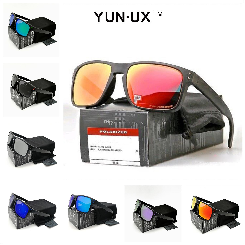 Style (10) Mens occhiali da sole moda su misura Smoke Matte Black Frame Polarized Lens Nuovo YO92-44 di alta qualità Nuovo vetri esterni di trasporto