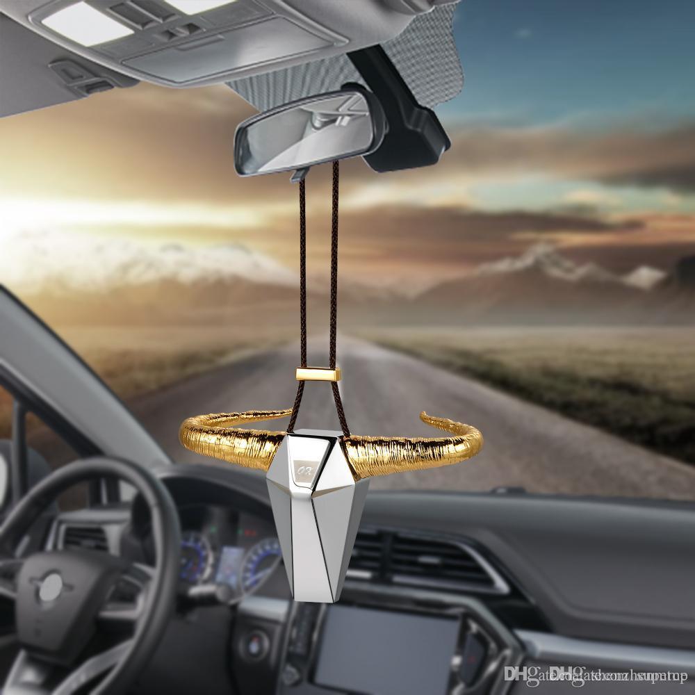 Alloy Wheel Ornament Car Rear View Mirror Hanging Decor Automobile Pendant