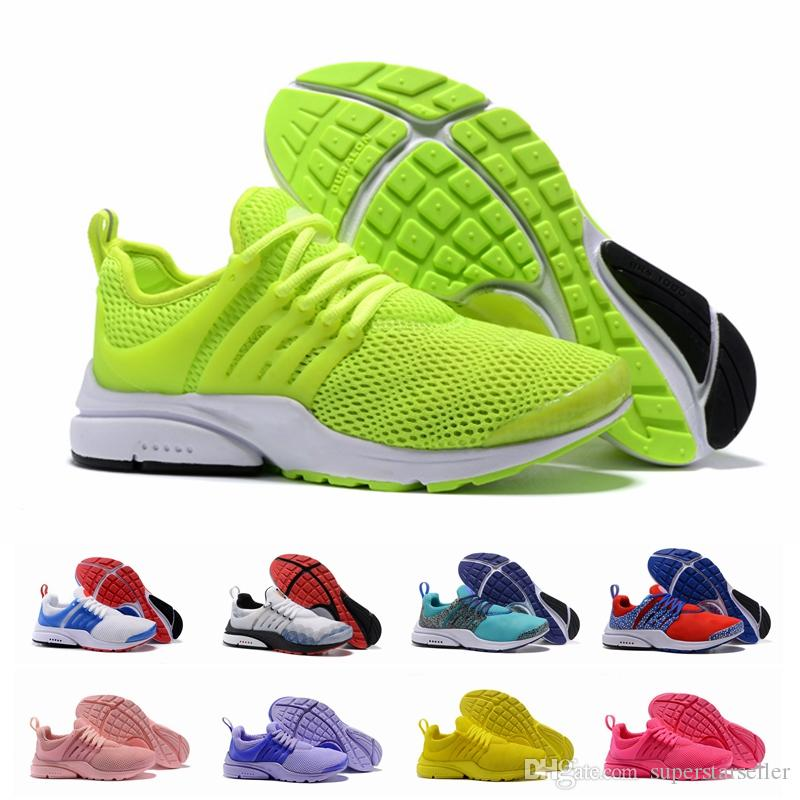 bright colored athletic shoes