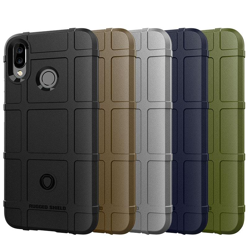 Soft Silicone Rugged Shield Case Armor Hybrid Matte Cover Anti Knock Shockproof Cover for Huawei Nova 3i