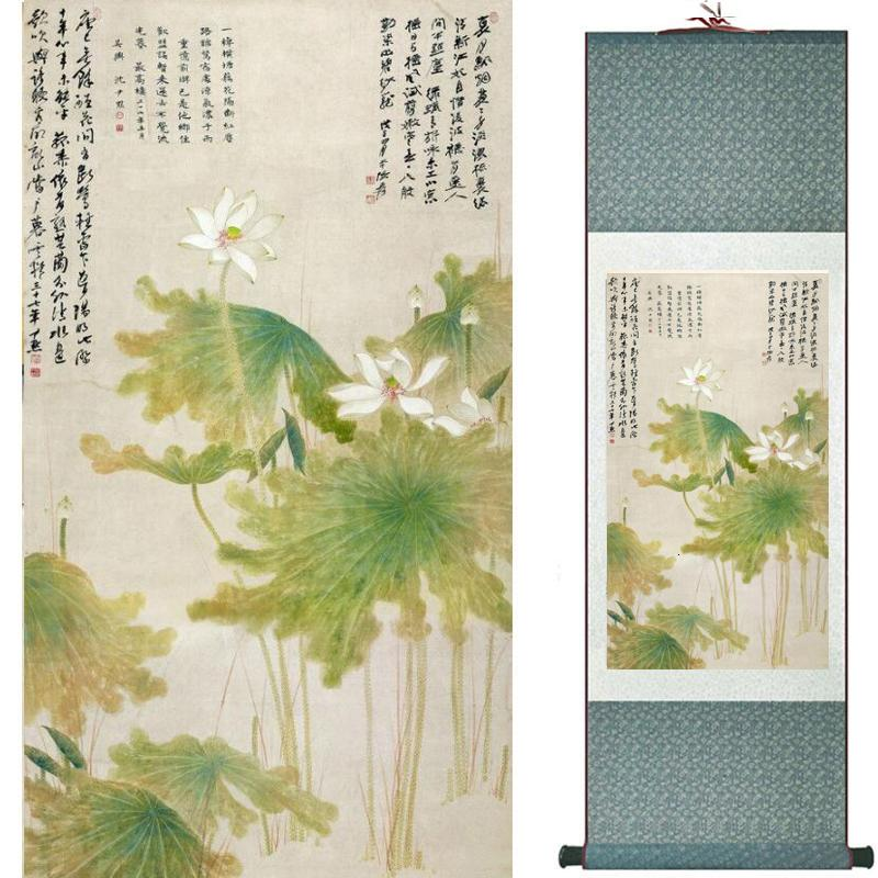 Flores pintando arte tradicional chinesa pintura decoração de casa pinturas20190905082