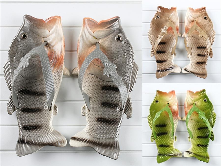 2020 Yeni Erkekler'S Klasik Erkekler'S Balık Terlik Moda Yaz Deri Casual Plaj Açık Balık Terlik Artı boyutu 39-46 # 201