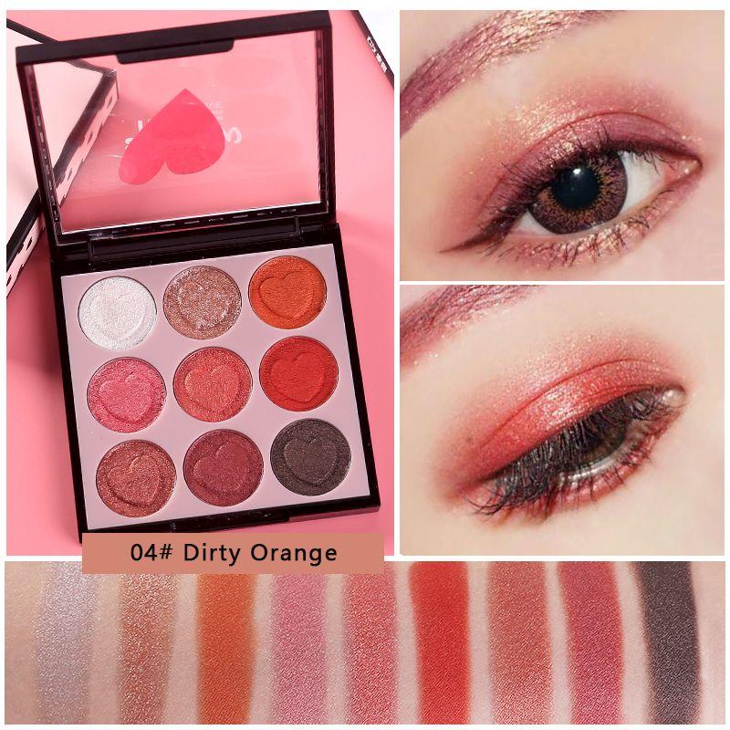 Göz Farı Tutun Canlı Mat Paleti Makyaj Mermaid Şeftali Renk 9 Renkler Çıplak Glitter Pırıltılı Pigment Gölgeler
