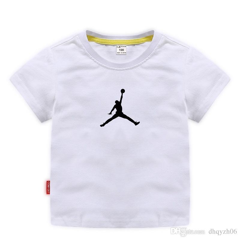 Высокое качество дизайна детской футболки мальчиков моды с короткими рукавами девочек хлопок дышащий влаги влагу летом новый 3-8 лет 10 цвет