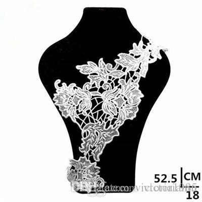 Hot 3d Cotton Lace Fabric Collar For Needlework Embroidery Venise Lace Fabric Applique Guipure Diy Craft For Sewing The Dress