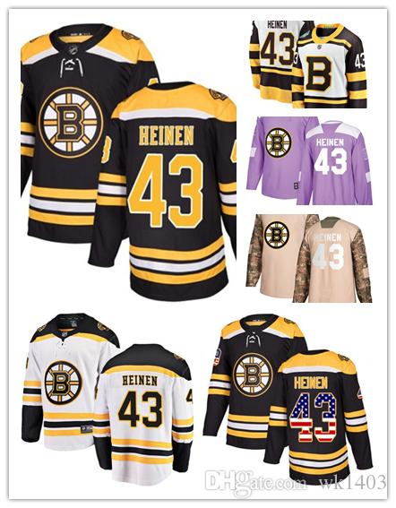 huge selection of 7bfe5 9521e 2019 Boston Bruins Jerseys #43 Danton Heinen Jersey Hockey Team Men Women  White Black Drift Authentic Winter Classic Stiched CCM Jersey From Wk1403,  ...