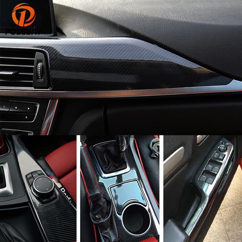 도매 5 D 탄소 섬유 비닐 필름 500x200CM 자동차 자동 DIY 포장 시트 롤 필름 스티커 데칼 광택 블랙 / 그레이 / 블루 / 실버 / 레드
