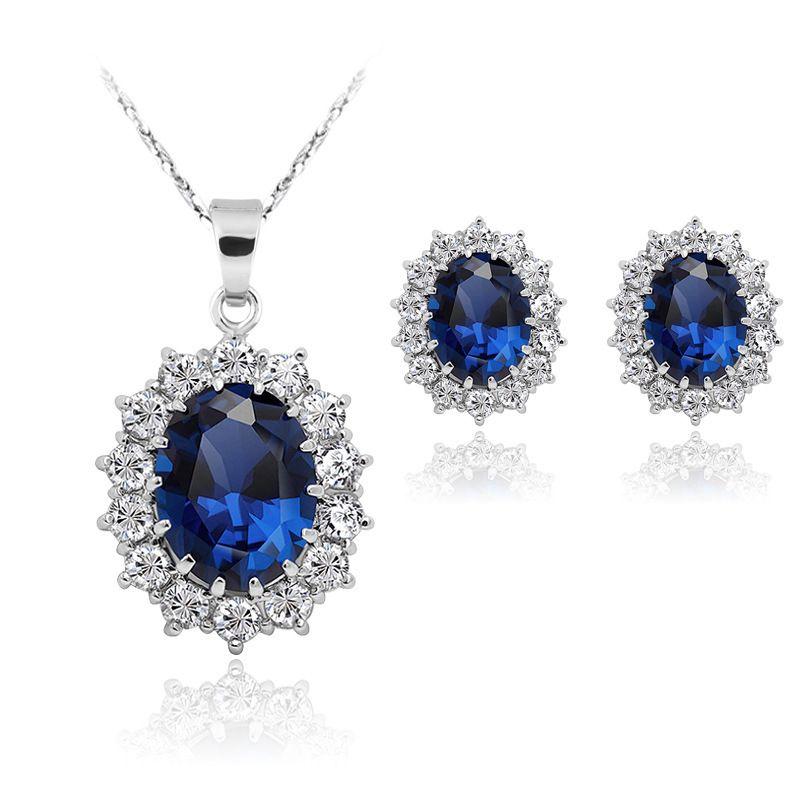 joyería más vendido de Europa y América del zafiro de moda al por mayor de + collar de la joyería de los regalos de Navidad