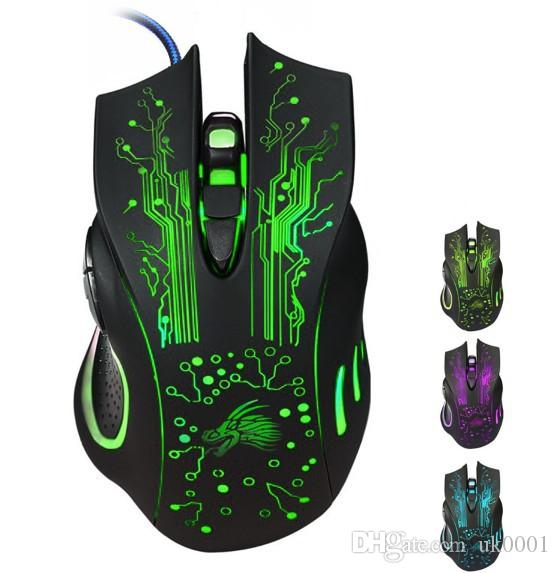 Hot Sale Estone X9 5000DPI LED Optical USB Wired Gaming Mouse Gamer Computer PC Laptop Professional Game Mice batter than X5