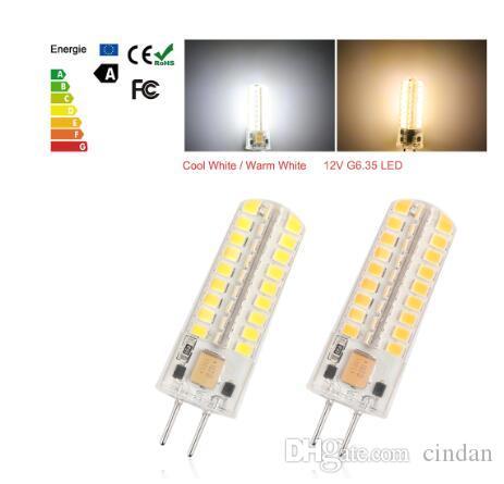 12V G6.35 72 LED 전구 라이트 5W SMD2835 실리콘 따뜻한 화이트 동등한 50W 할로겐 램프를 들어 홈 조명