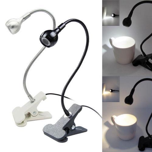 Portable USB Prática recarregável LED Light moda Regulável Clip-On Desk Tabela lâmpada de leitura do livro