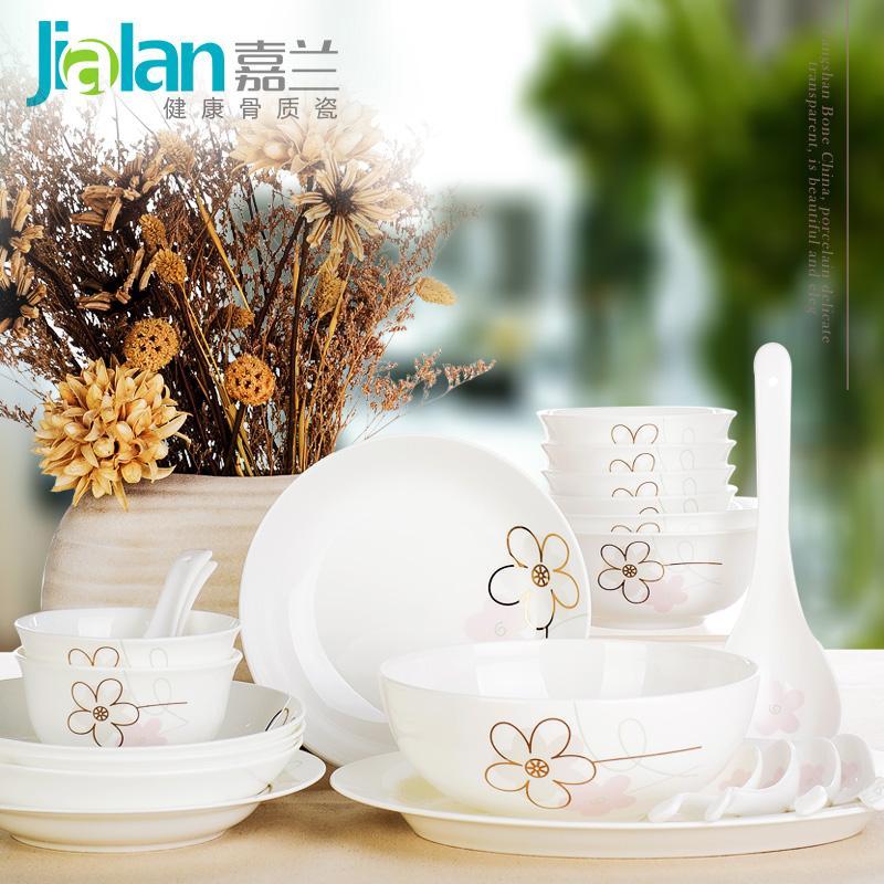 Los platos de cerámica china guirnalda 4 especiales vajilla tazón de cerámica traje Tangshan regalos de porcelana
