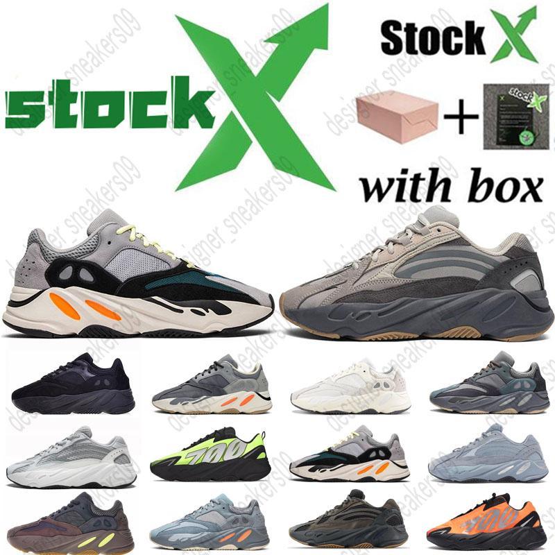 2020 Novo 700 Homens Mulheres Running Shoes Magnet Utility Preto Vanta Tephra Geode Inércia malva Kanye West Mens Formadores Moda Sports Sneakers