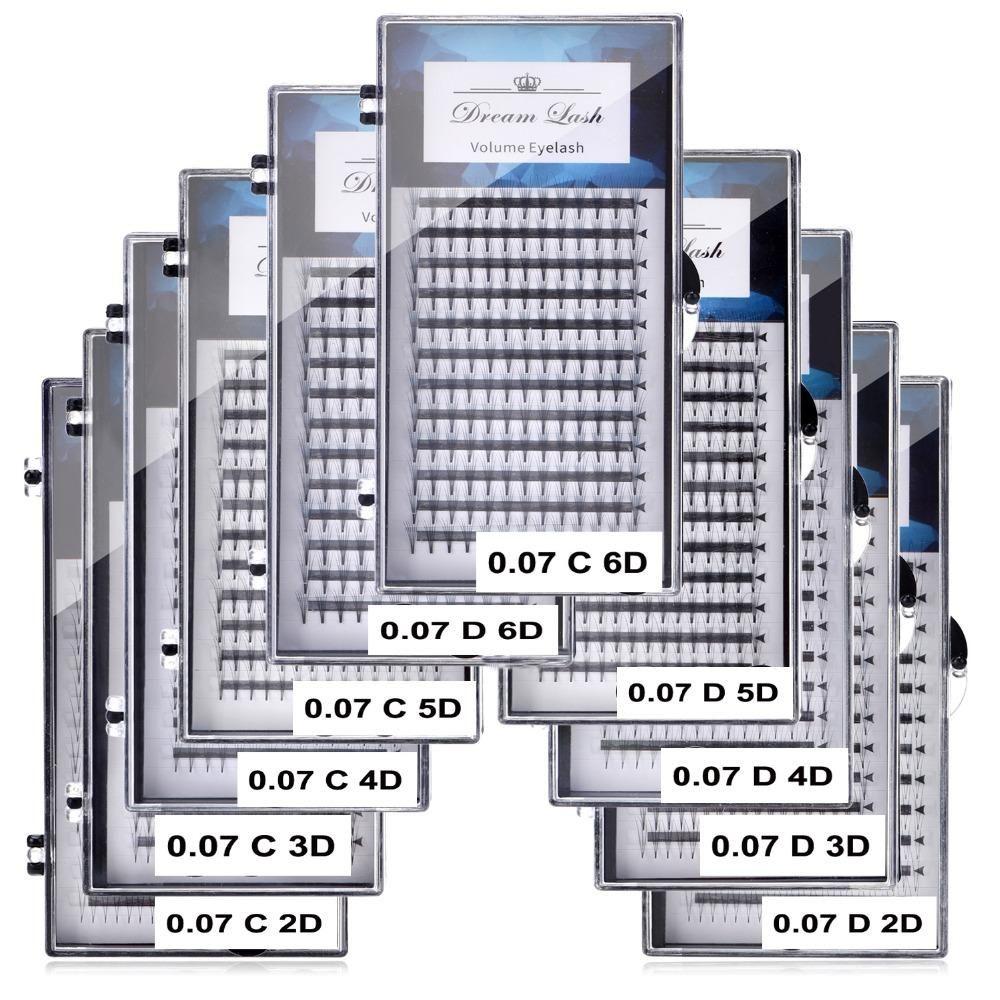 2d 3d 4d 5d 6d مراوح حجم رمش تمديد الفردية قسط cilios premade الروسية العنقودية العين ماكياج أداة 12 خطوط