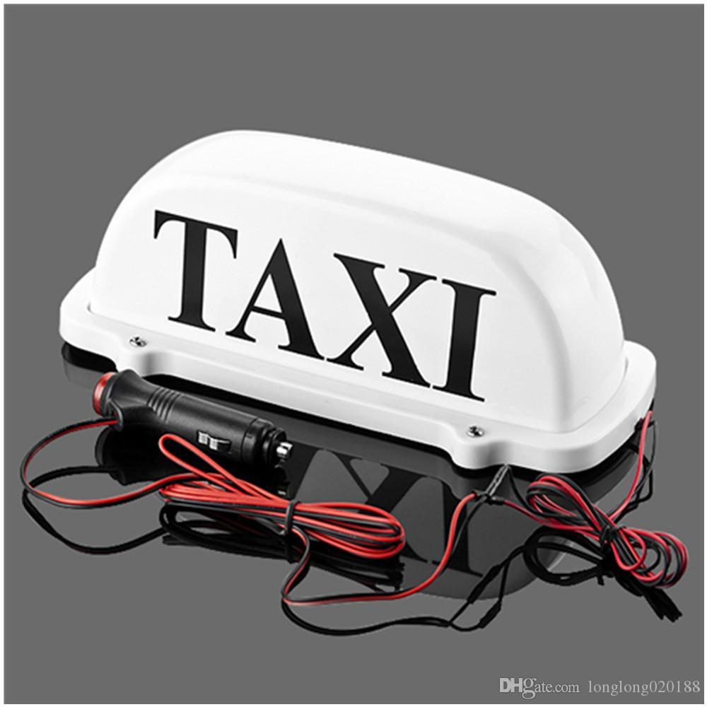 Muestra del coche Taxi luz superior del nuevo del LED del techo del taxi 5V 12V con base magnética luz del techo del taxi y la línea de alimentación 3 metros