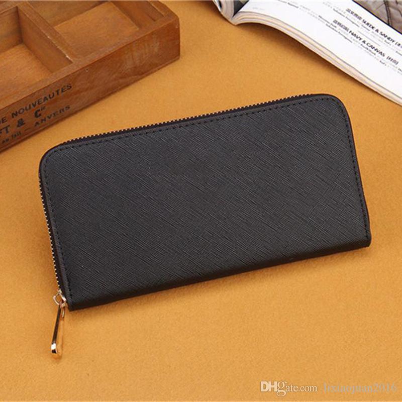 2020 الشحن المجاني الجملة سيدة محفظة طويل متعدد الألوان عملة محفظة حامل بطاقة نساء الأصلي الكلاسيكي سحاب pocke