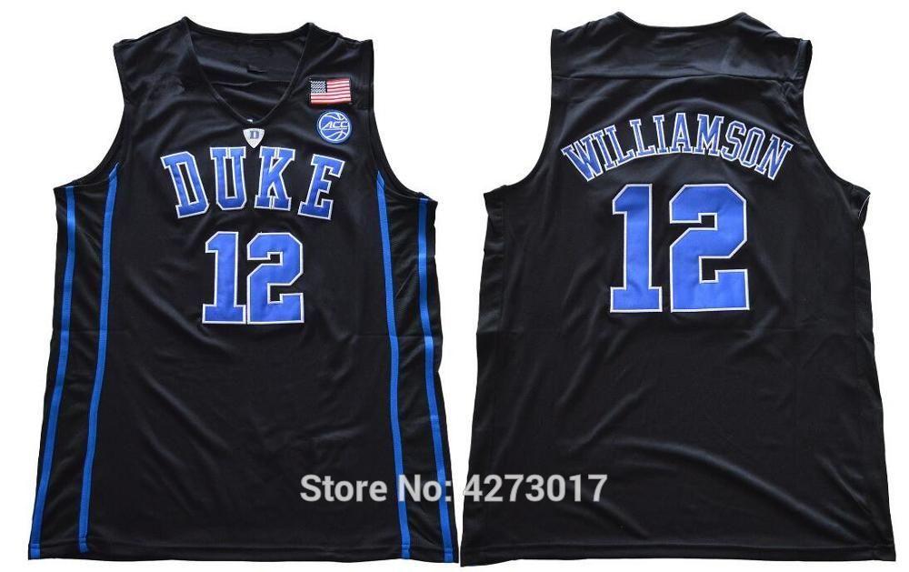 University Road Williamson Jerseys Jersey Blue Mens Devils White Zion Team College Stitched 12 Men Basketball Vest Duke Xs-6xl