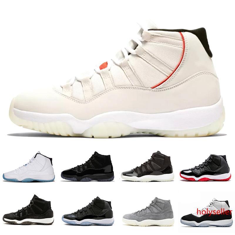 11 nuevos 11s Concord 45 Platinum Tinte mujeres de los hombres zapatos de baloncesto de la tapa y vestido rojos de gimnasio criados Leyenda gamma Deportes azules entrenador de la zapatilla de deporte