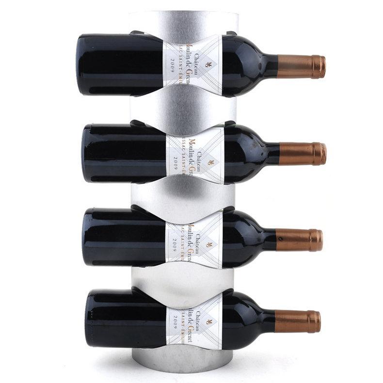 1 ADET 3 veya 4 Delik Paslanmaz Çelik Duvara Monte Şarap Tutucu Raf Ev Şarap Şişesi Tutucu Tercih Edilen Vidalar Ile Evsel Kullanılmış