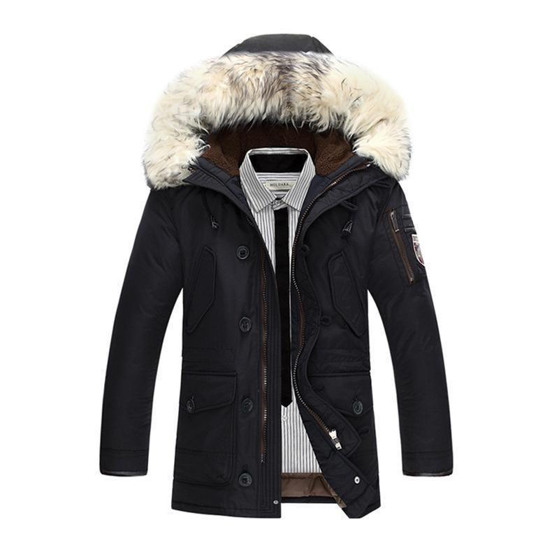Удивительная Зимняя мужская куртка с капюшоном 2019 года хлопчатобумажная куртка мужские толстые Мужские пальто парки теплые куртки