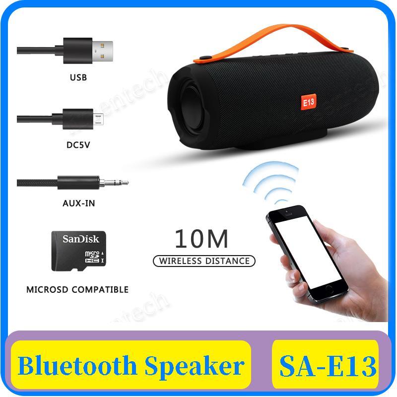 E13 mini portátil de altavoces estéreo Bluetooth inalámbrico con altavoz de radio de música Subwoofer Altavoces Columna para la computadora con TF FM