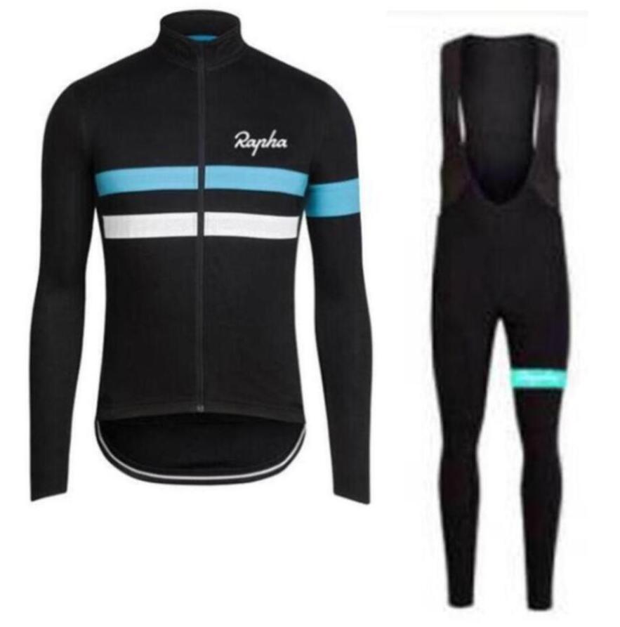 Equipe Rapha Ciclismo Calças Compridas Camisa (bib) define Primavera e outono Ciclismo Respirável Homens Ciclismo Vestuário zefengst