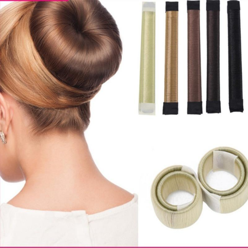 6colors Diy Tool Hair Accessories Synthetic Donuts Bud Head Band French Twist French Bun Maker Sweet Hair Braider