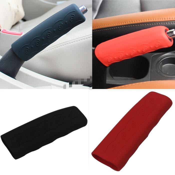 Universal Car Handle Brake Cover Side Handbrake Sleeve Red Gray