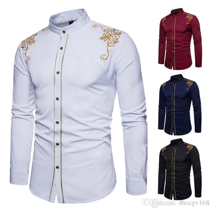 Männer-Stickerei-Muster T-Shirts Retro Design Dünne beiläufige Mann-Hemd Mode Kleidung DesignerLuxury Medusa Schwarz Weiß Shirts