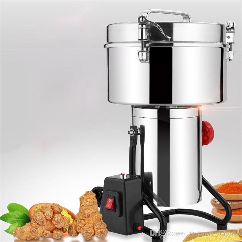 Molinillo de pimienta eléctrico BEIJAMEI Factory 3000g / máquina de molienda de polvo de chile comercial / precio de molinillo de granos de especias de alimentos secos