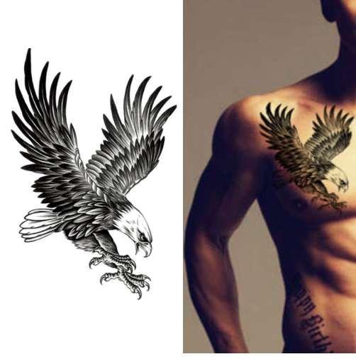 New Eagle imperméable à l'eau temporaire Body Art bras épaule poitrine d'autocollant de tatouage femmes