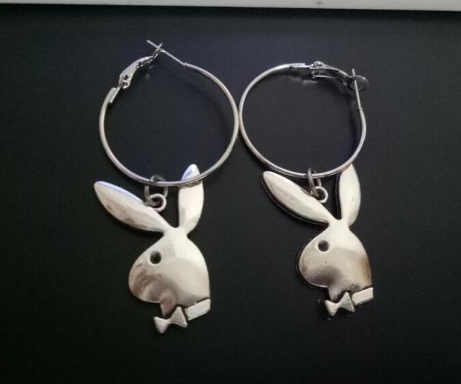 2020 conejos de punk pendientes transversales iGirl pendientes gótico para las mujeres 2000 accesorios estéticos de la joyería EGirl femme Collier