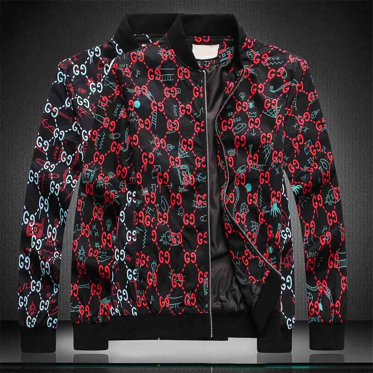 Tamaño para hombre de la capa con capucha Diseñador Otoño Invierno rompevientos abajo cubre el grueso de lujo con capucha Outwear chaquetas luminoso asiática Ropa de Hombre 2020ff