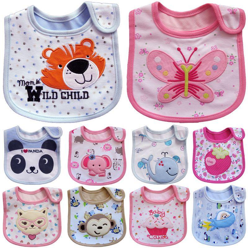 Cute Baby Girls Kids Waterproof Saliva Towel Cartoon Feeding Bandana Bib CB