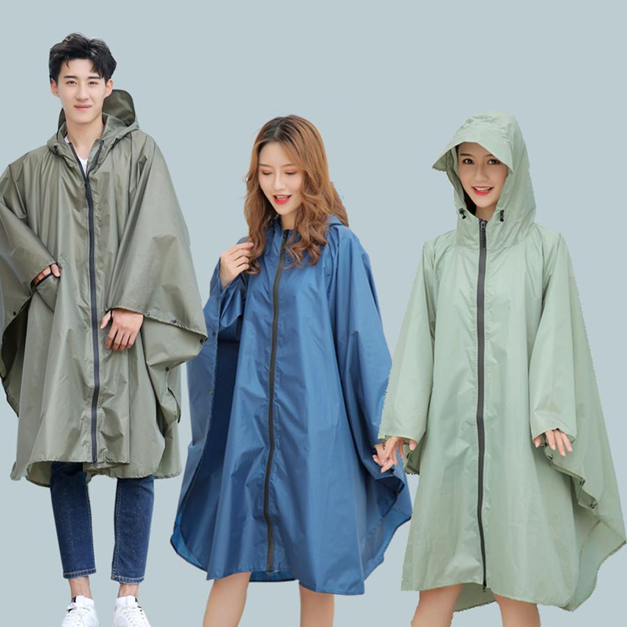 PVC Raincoat Women Waterproof Poncho Nylon Woman's Jackets Rain Cover Cape Chuva Coat Men Girls Clear Raincoats Hooded RBY038