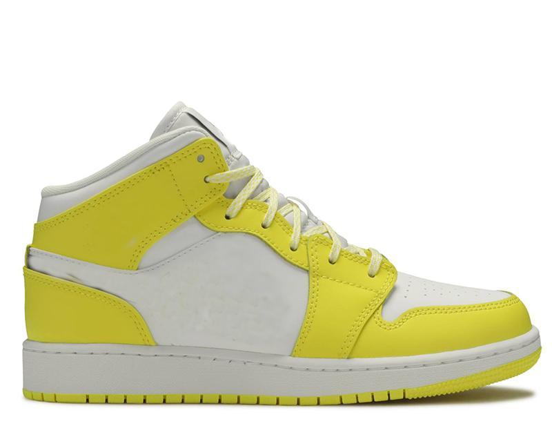 Box ile Kadınlar Spor Ayakkabılar 2020 Bayan Basketbol Ayakkabı Rose Patch Dinamik Sarı Orta US5.5-8.5
