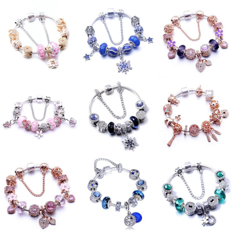 Ew S925 Sterling-alliage-Bijoux Perles Pave pour les bijoux Faire fruits poire Diy femmes Charm Fits Pandora Charms Bracelets pour les femmes 1Pc Lot # 945