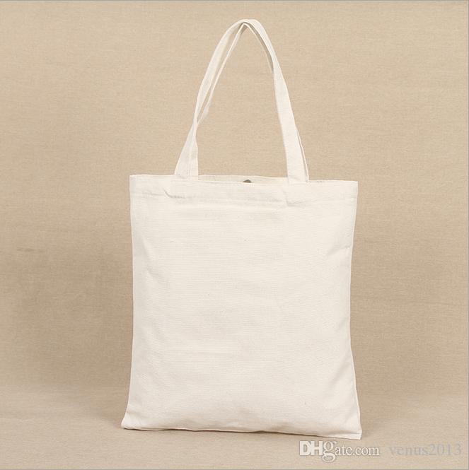 Algodón en blanco Nuevo patrón bolsa bolsas ecológicas plegables de compras reutilizable bolso de hombro asas de tote alista bolso de mano lienzo qwwlv
