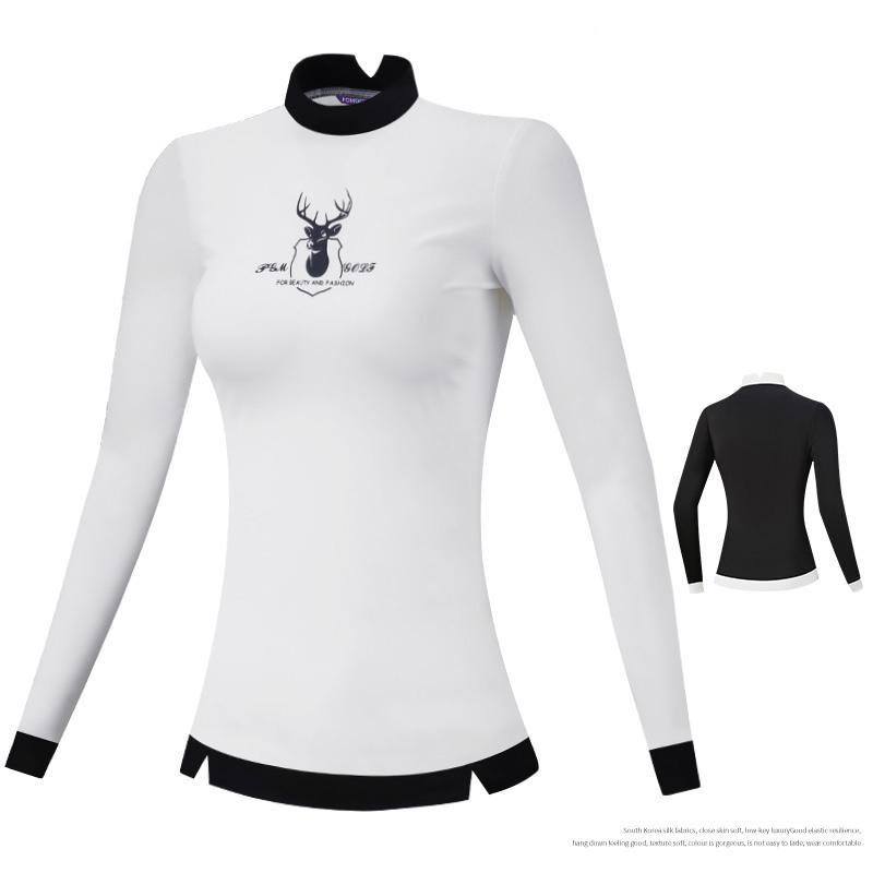 PGM Femmes manches longues Tops Golf Printemps Automne Golf T-shirt Slim Équipe sportive extérieure Golf Vêtements Uniforme D0827