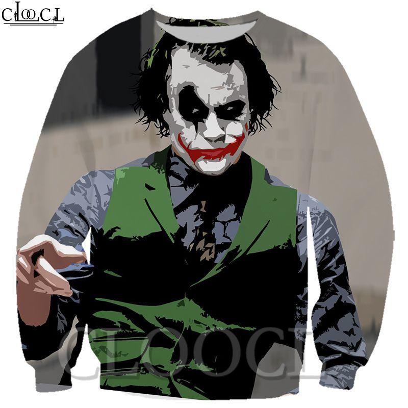 CLOOCL 3D Printed Мужчины / Женщины Кино Джокер Популярные Толстовка Harajuku Пуловеры Мода осень Harajuku мужской костюмы Верхняя одежда