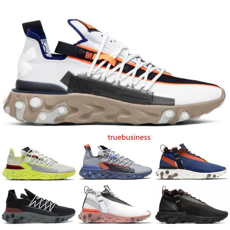 Los hombres reaccionan WR ISPA de los zapatos corrientes alta calidad mujeres Platinum voltios pistola de humo carmesí luz fantasma del Aqua instructor para hombre de las zapatillas de deporte