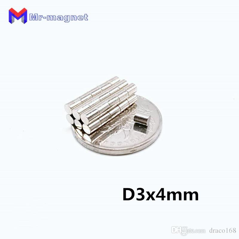 50pcs 3x 4 mm magnet super powerful rare earth neodymium magnets D3*4mm 3x4 disc Smart Toy magnet D3x4 3*4 Magnetic material