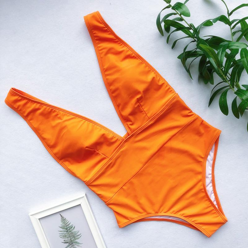 2019 Цельный Твердая Пляж New Hot Стиль Купальник талии Swimware Сексуальная женщина купальный костюм Beachware 6 3Z14 0ZRI